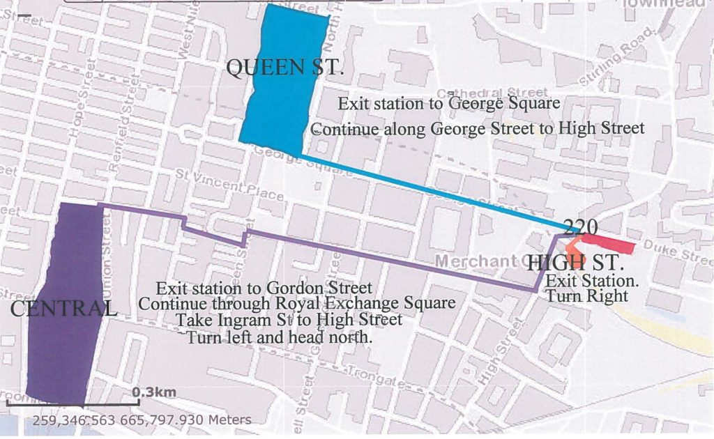 Glasgow City Centre location map