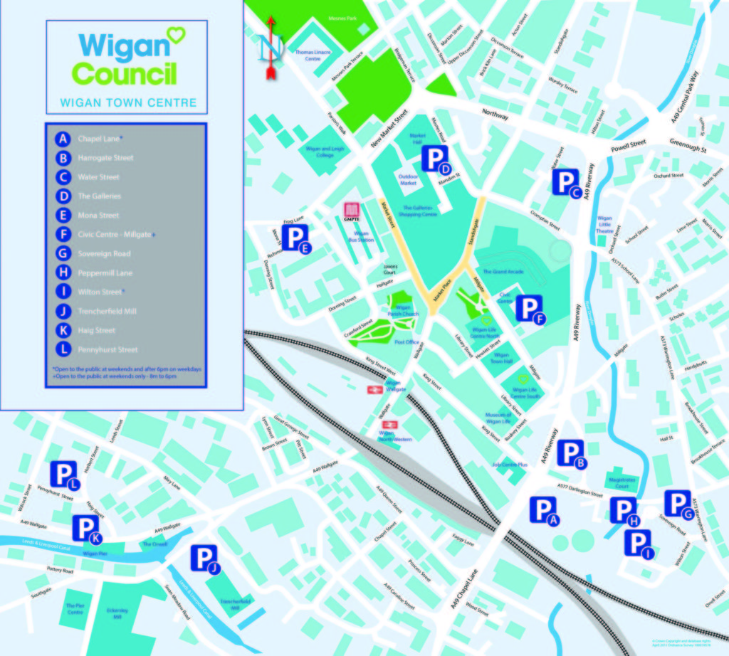 Location map Wigan Council