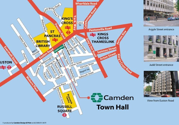 Map for Camden Town Hall