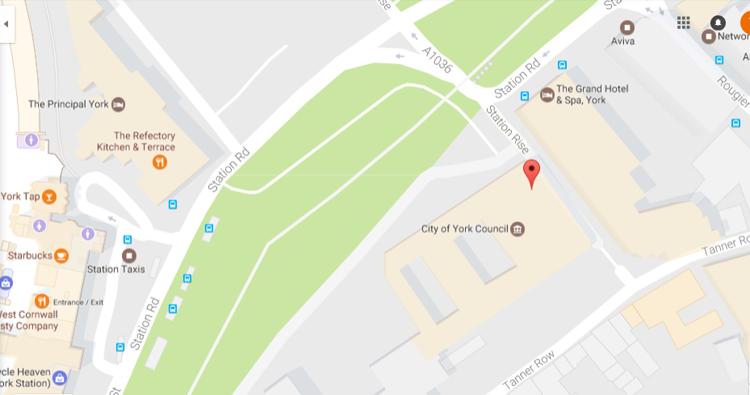 Location map York City Council