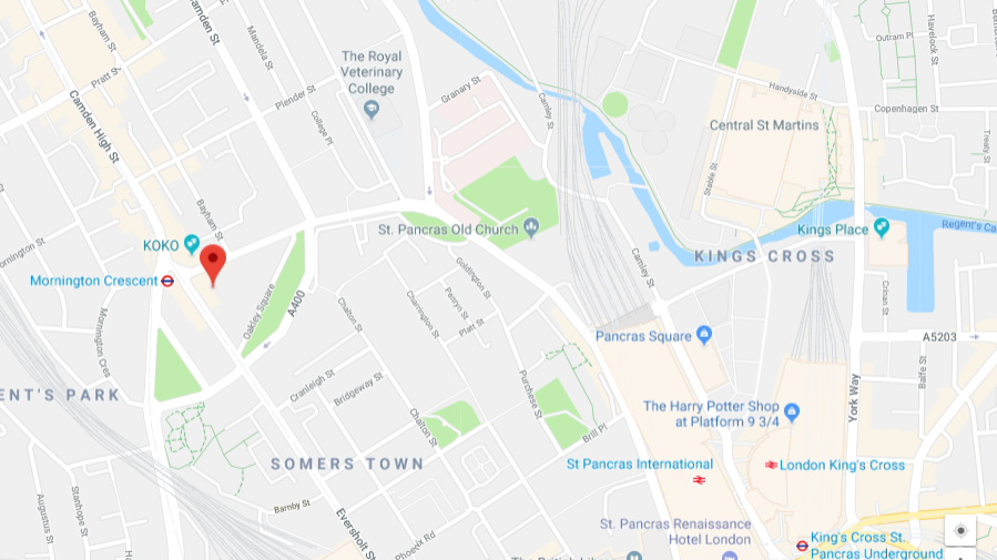 Location map of Camden Crowndale Centre
